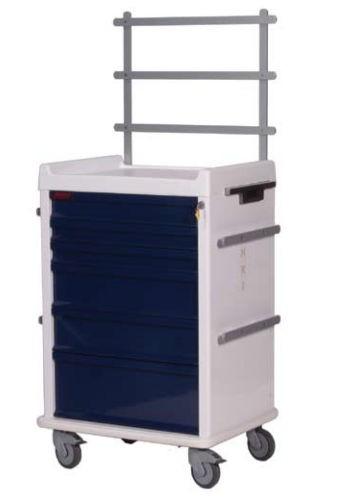 MRT Anästhesie-Rollwagen mit 7 Schubladen und Notfallpaket