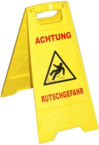 "MRT Warnschild ""Achtung Rutschgefahr"""