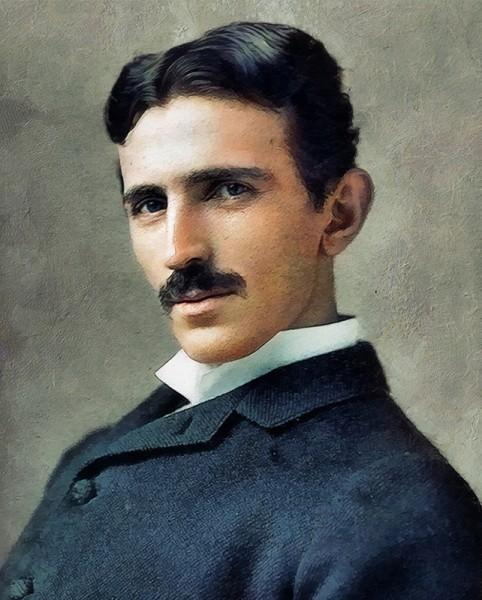 Nikola Tesla Kunstdruck auf Leinwand