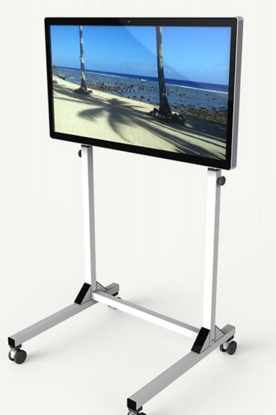 4K UHD Monitor (40 Zoll) mit höhenverstellbarem Rollwagen