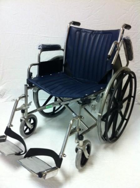 MRT zusammenklappbarer Rollstuhl (dunkelblau)