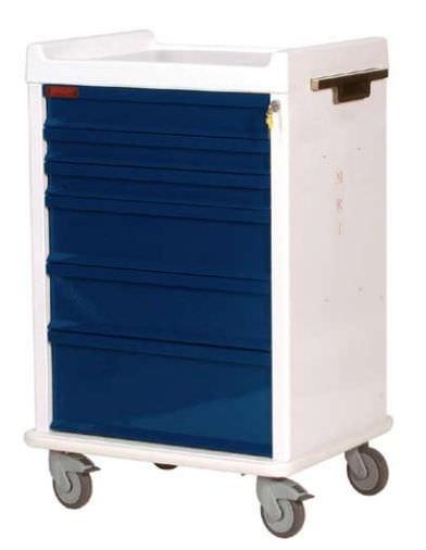 MRT Anästhesie-Rollwagen mit 6 Schubladen