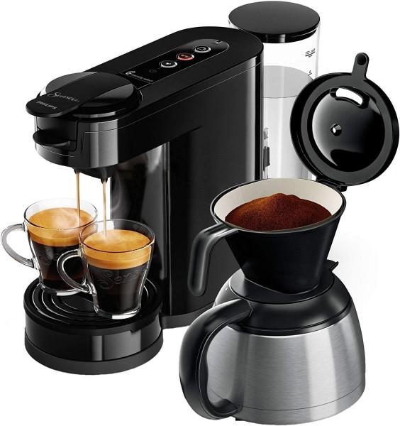 2-in-1 Kaffeemaschine für Filterkaffee und Kaffeepads