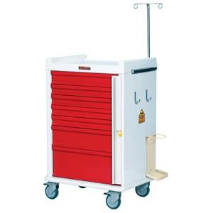 MRT Notfall-Rollwagen mit Notfallpaket und 7 Schubladen