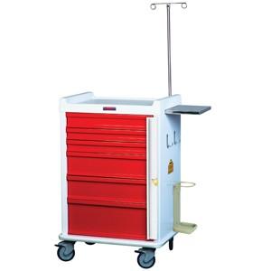 MRT Notfall-Rollwagen mit Notfallpaket und 6 Schubladen