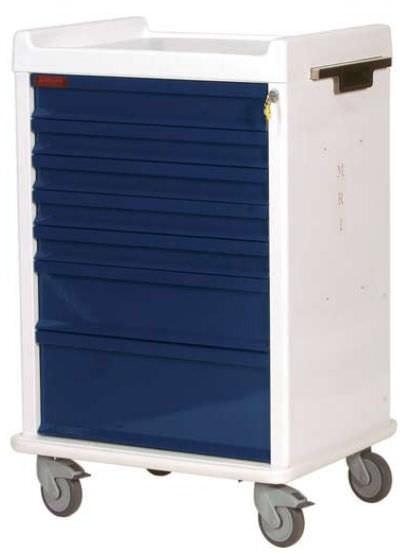 MRT Anästhesie-Rollwagen mit 7 Schubladen