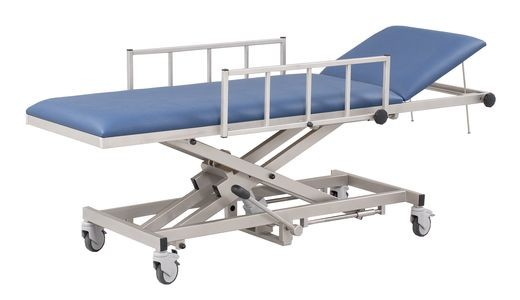 MRT Patiententransportliege mit hydraulischer Höhenverstellung inklusive Seitengitter