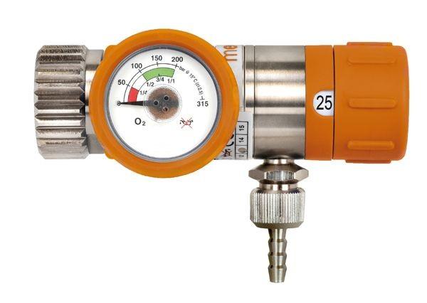 MR-tauglicher O2 Kompakt-Druckminderer