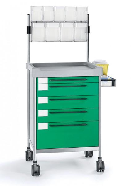 MRT Multifunktions-Rollwagen mit Spritzenschütten und 5 Schubladen
